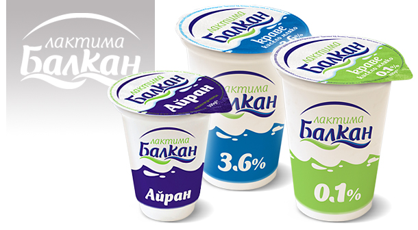 Package design for yodhurt Lactima Balkan